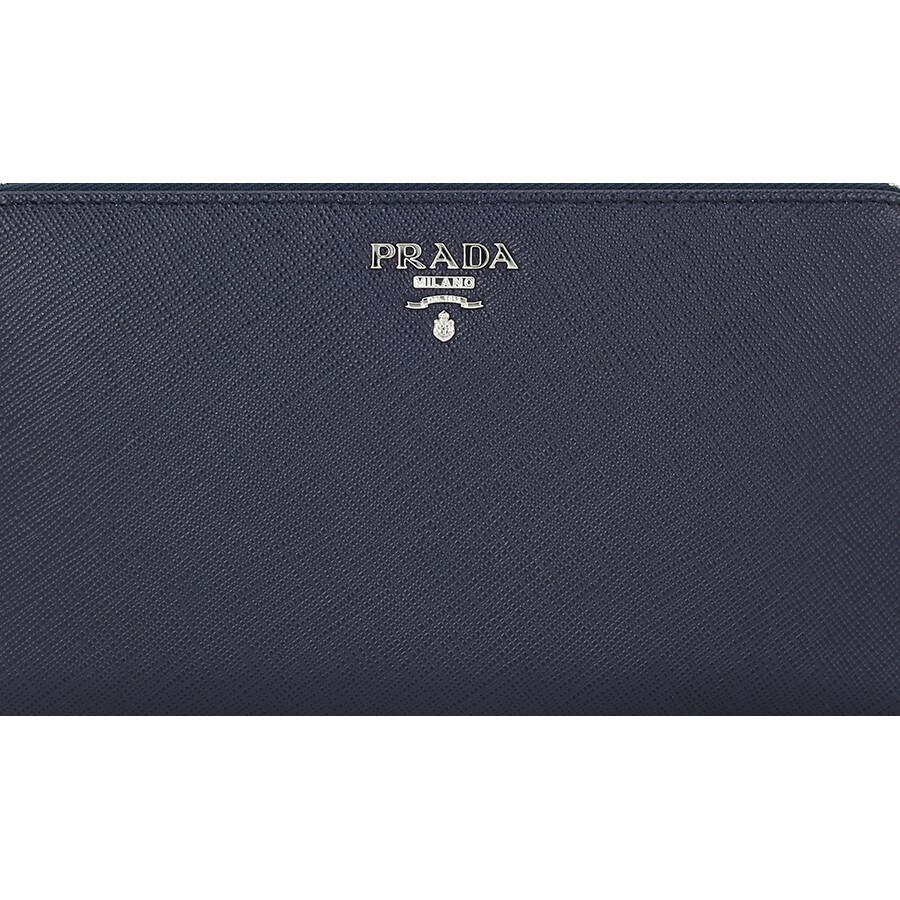 cfcf87a52912aa Prada Zip-Around Saffiano Leather Continental Wallet - Baltico Astrale