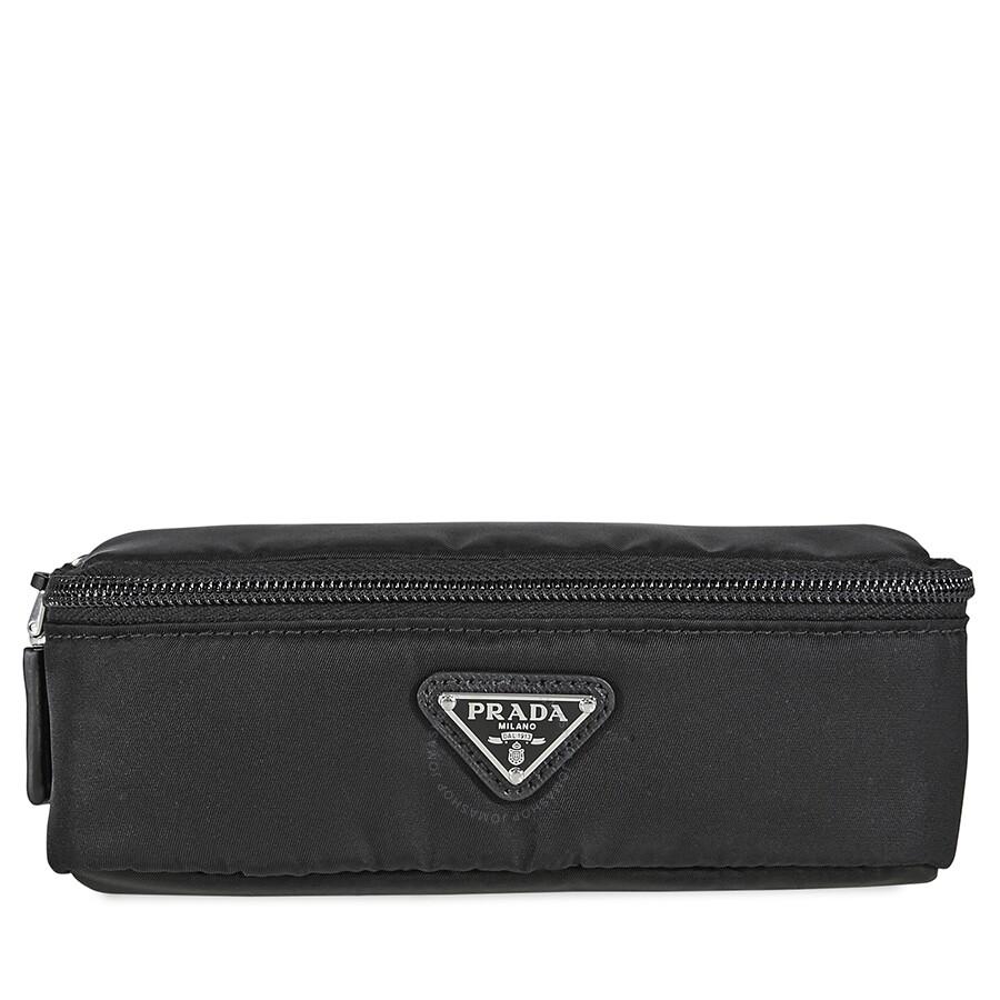 a1148b3a939b Prada Zipped Wash Bag- Black - Prada - Handbags - Jomashop