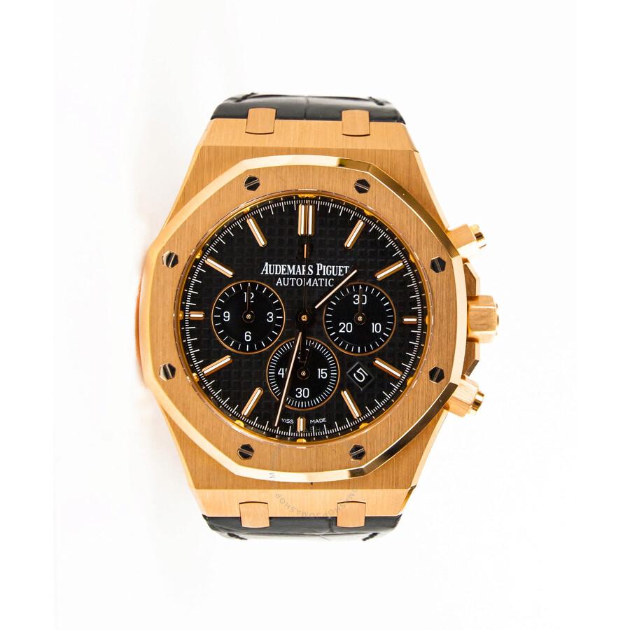 Pre Owned Audemars Piguet Royal Oak Chronograph Automatic Black Dial Men S Watch 26320or Oo