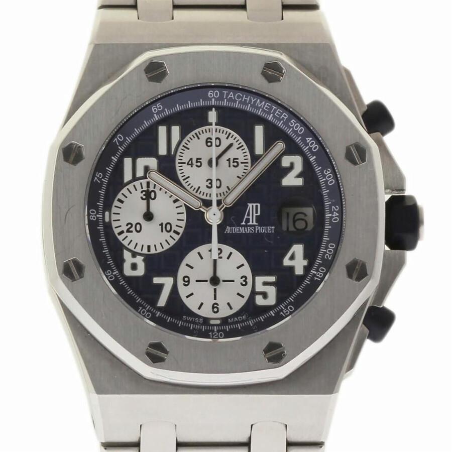 Pre Owned Audemars Piguet Royal Oak Offs Chronograph Automatic Blue Dial Men S Watch 25721st