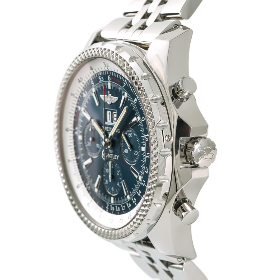 Pre-owned Breitling Bentley Chronograph Automatic Blue