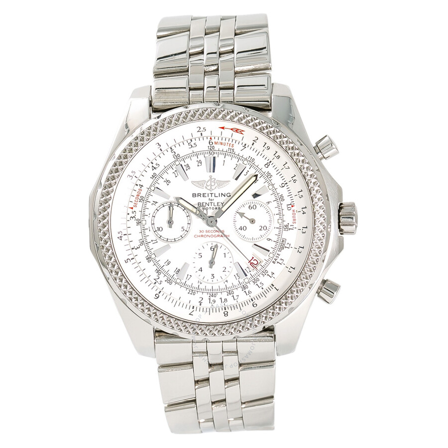 10062995788e Breitling Pre-owned Bentley Chronograph Automatic Silver Dial Men s Watch  Item No. A25362