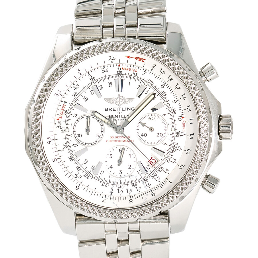 Pre-owned Breitling Bentley Chronograph Automatic Silver