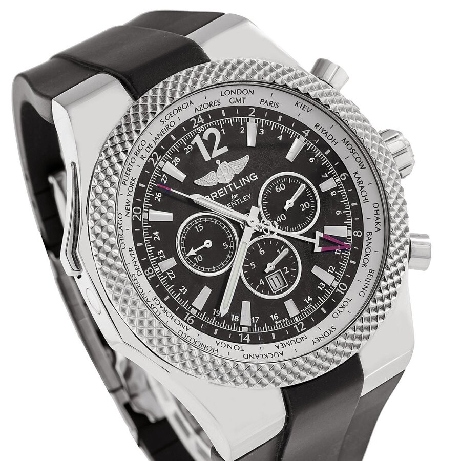 Pre-owned Breitling Bentley GMT Chronograph Automatic