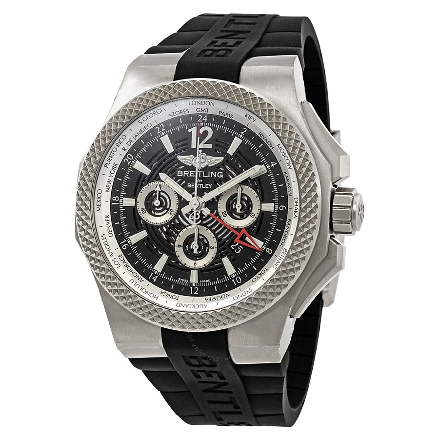 Pre-owned Breitling Bentley GMT Light World Time