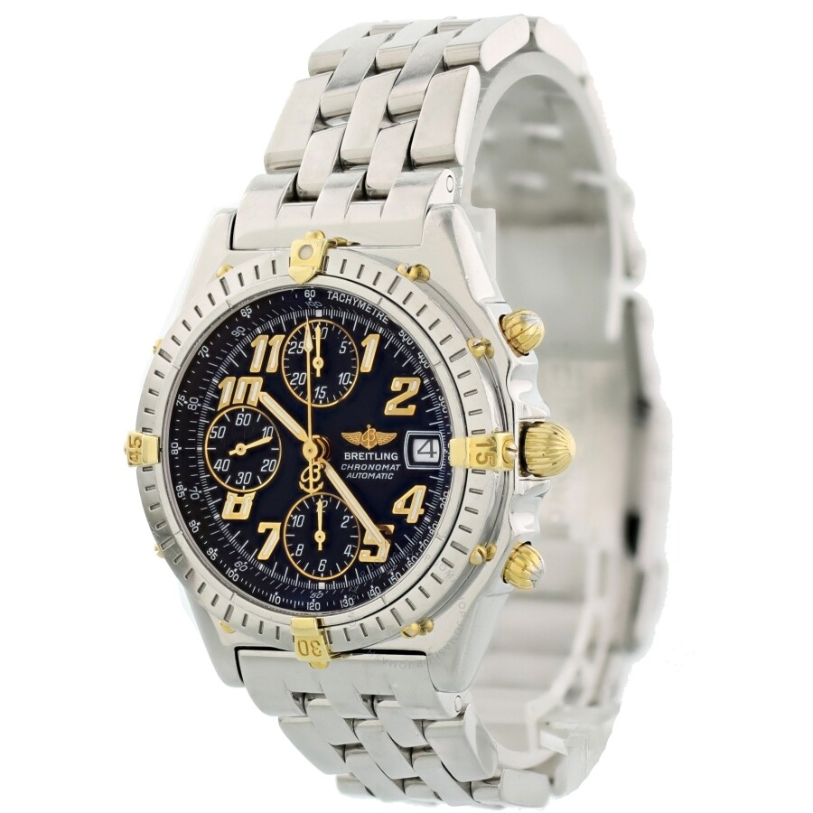Pre Owned Breitling Chronomat Chronograph Automatic Blue Dial Men S Watch B13050 1