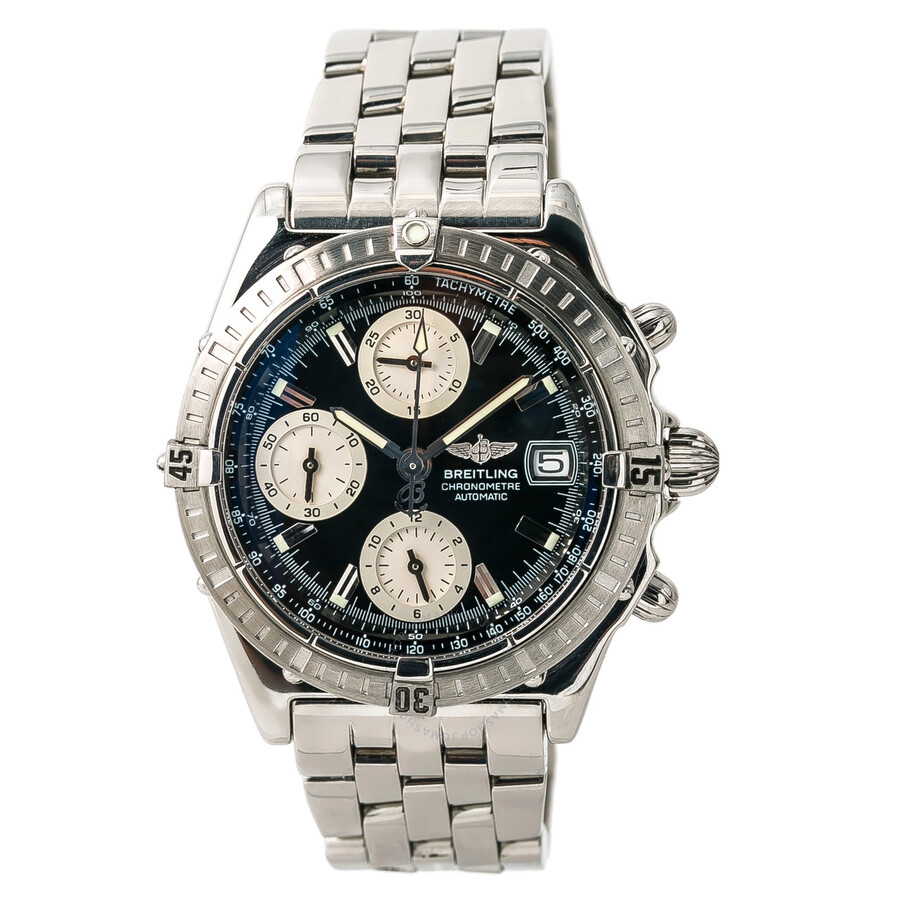 Pre Owned Breitling Chronomat Chronograph Automatic Chronometer Black Dial Mens Watch A13352