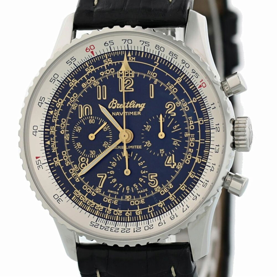 Pre Owned Breitling Navitimer Chronograph Automatic Black Dial Men S Watch A11022