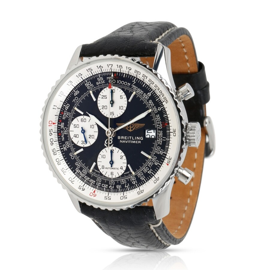 Pre Owned Breitling Navitimer Chronograph Automatic Black Dial Men S Watch A13022