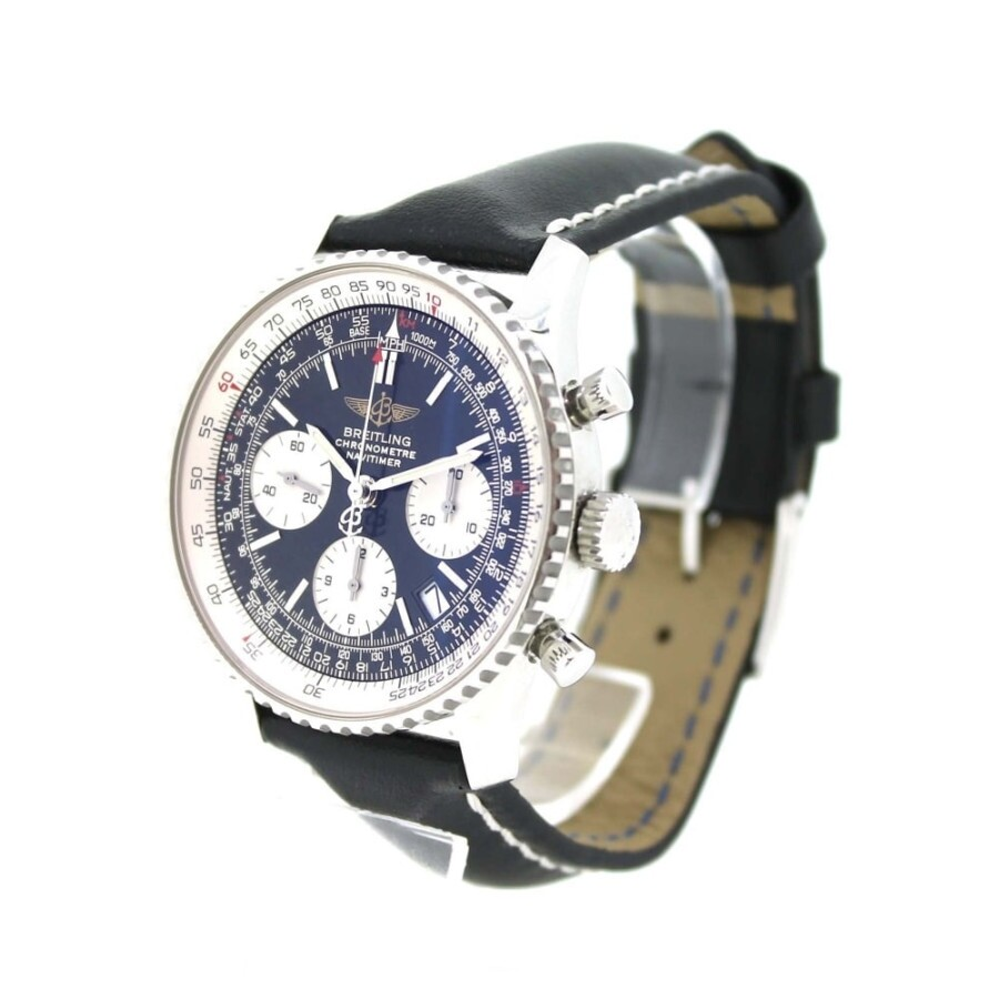 Pre Owned Breitling Navitimer Chronograph Automatic Black Dial Men S Watch A23322