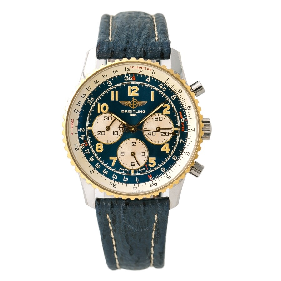 Pre Owned Breitling Navitimer Chronograph Automatic Blue Dial Men S Watch D30022