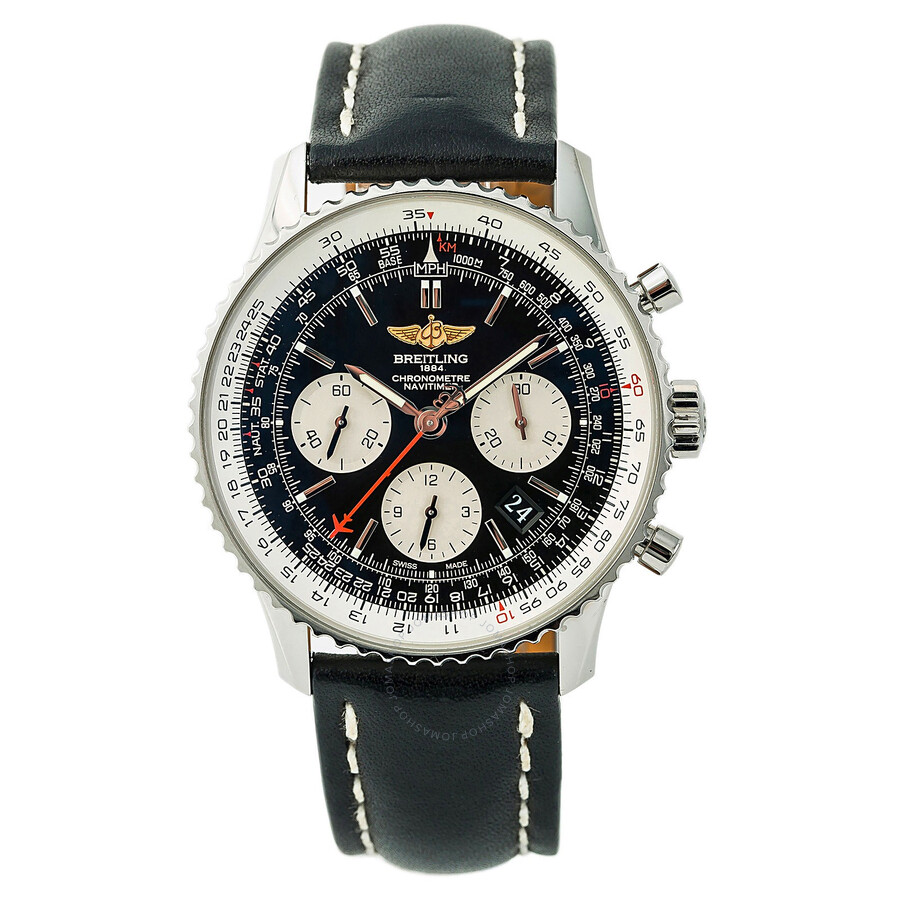 Pre Owned Breitling Navitimer Chronograph Automatic Chronometer Black Dial Men S Watch Ab0120