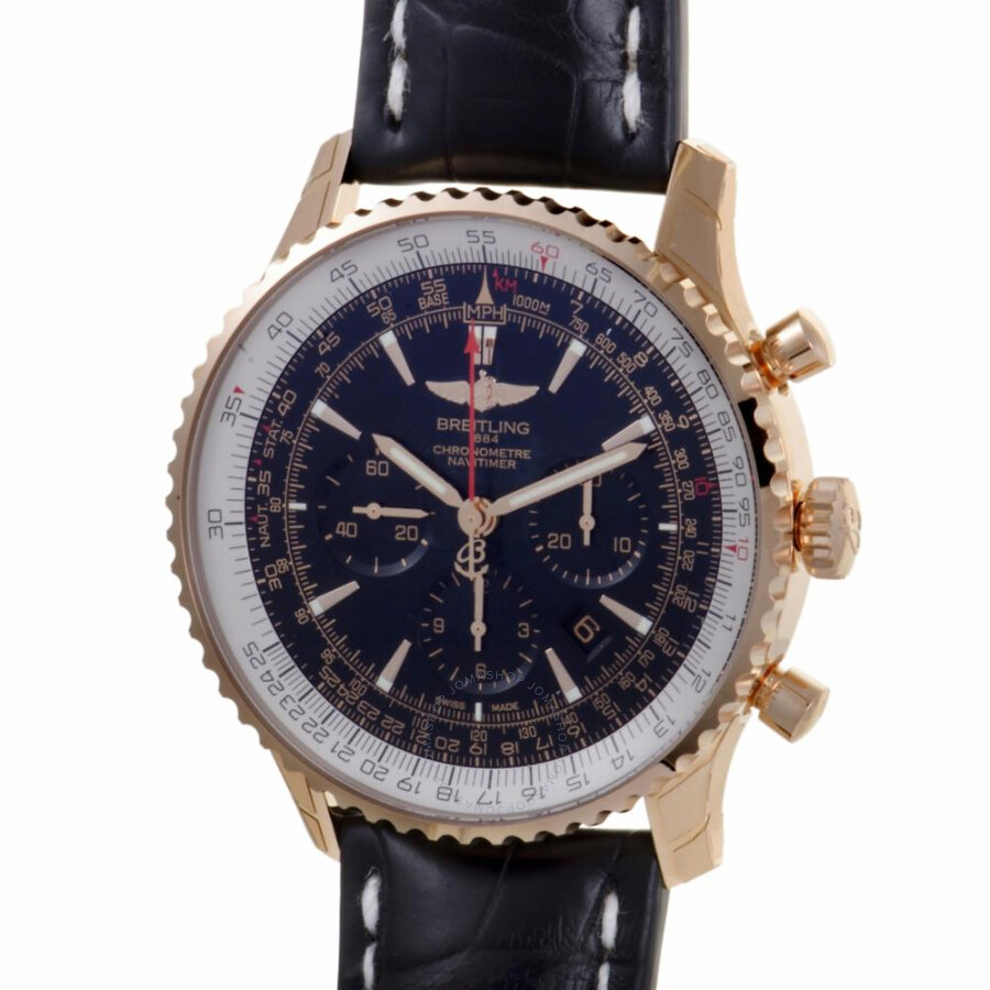 Rb0127 Pre-owned Navitimer Dial Automatic Black Chronograph Watch Chronometer Breitling Men's