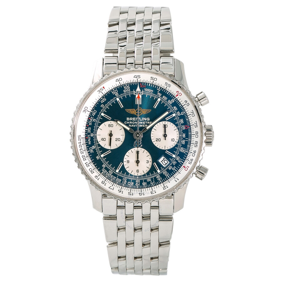 Pre Owned Breitling Navitimer Chronograph Automatic Chronometer Blue Dial Men S Watch A23322