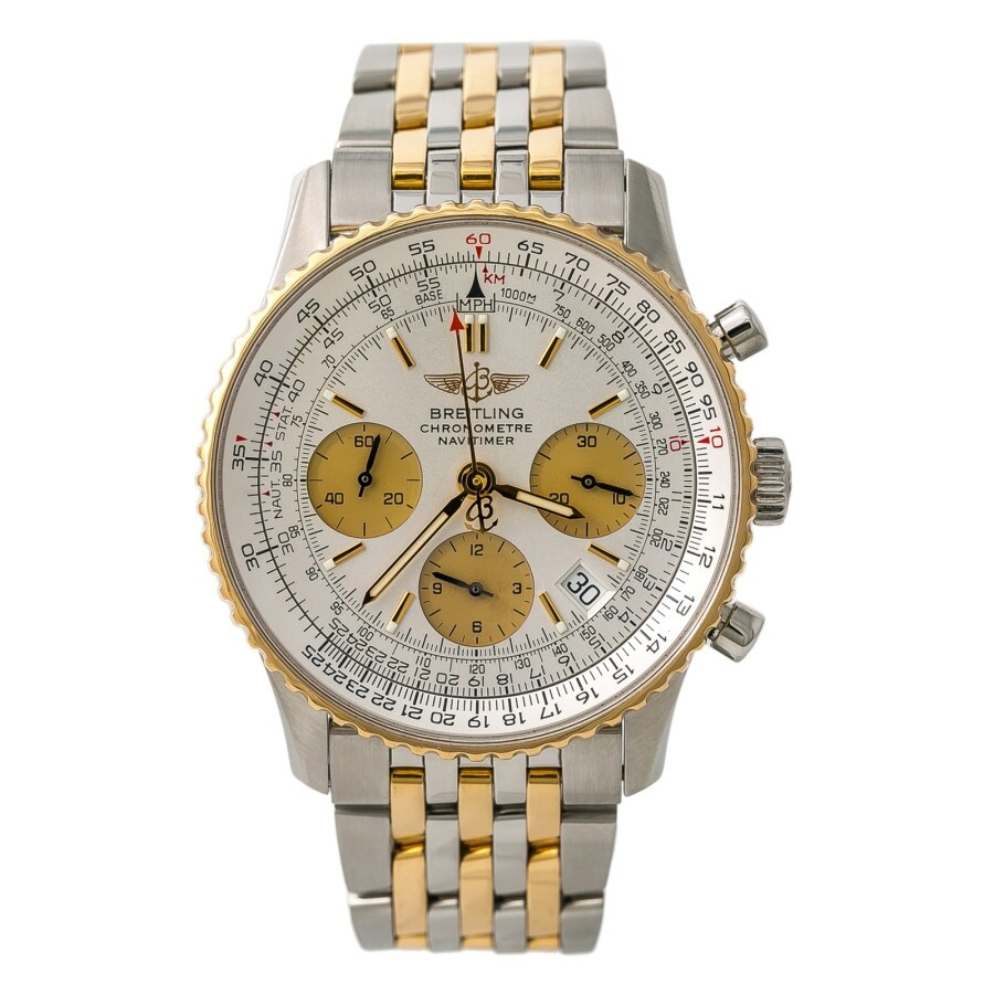 Pre Owned Breitling Navitimer Chronograph Automatic Silver Tone Dial Men S Watch D23322