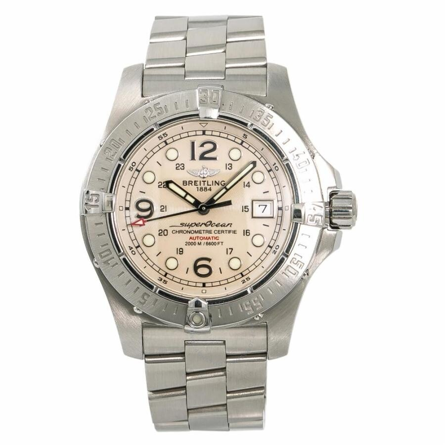 finest selection 755ed cb9af Pre-owned Breitling Superocean Automatic White Dial Men's Watch A17390