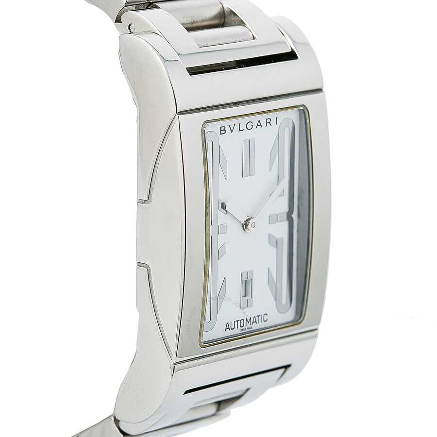 4175682d07751 Pre-owned Bvlgari Rettangolo Automatic White Dial Ladies Watch RT 45 ...