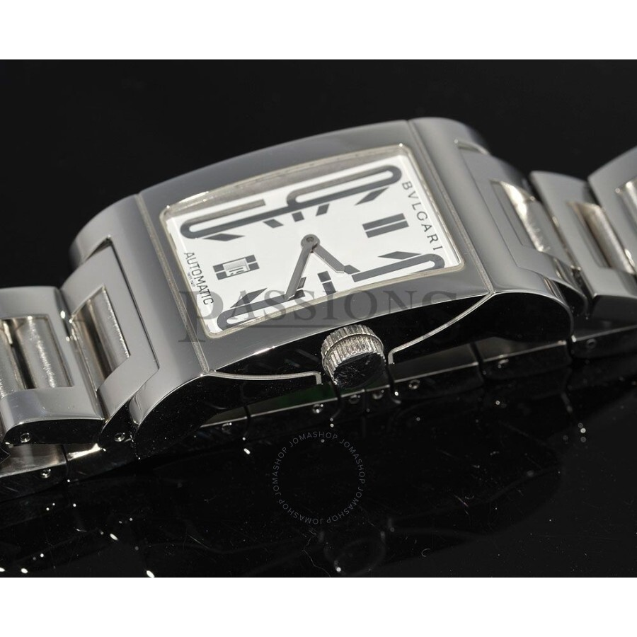 89a102147c794 Pre-owned Bvlgari Rettangolo White Dial Ladies Watch RT 45 S ...