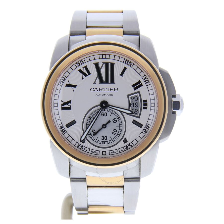965cb0f71c3 Pre-owned Cartier Calibre de Cartier Automatic White Dial Men s Watch 3389
