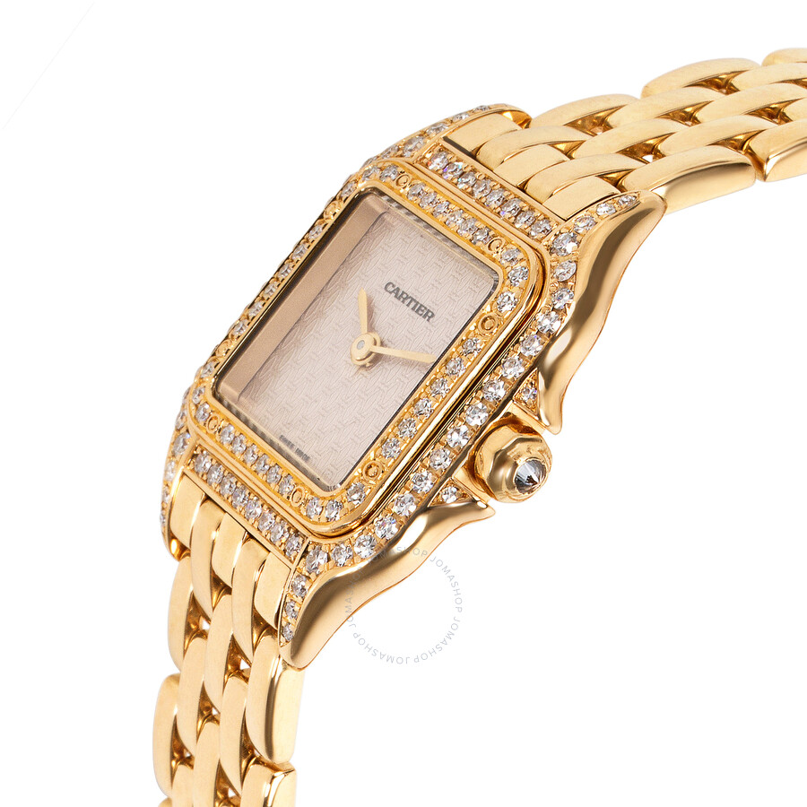 ... Pre-owned Cartier Panthere de Cartier Diamond Silver Dial Ladies Watch  1280 ... 2f06f820069