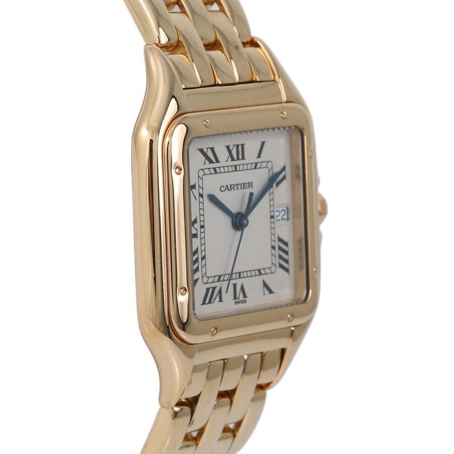 cebf7b7592fa Pre-owned Cartier Panthere de Cartier White Dial Men s Watch W25014B9