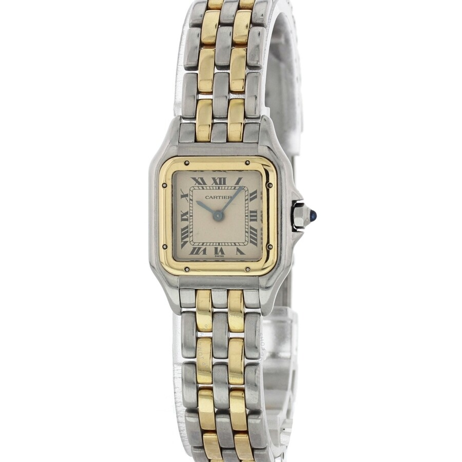 6cadd66c129 Pre-owned Cartier Panthere Quartz White Dial Ladies Watch 1661921 ...
