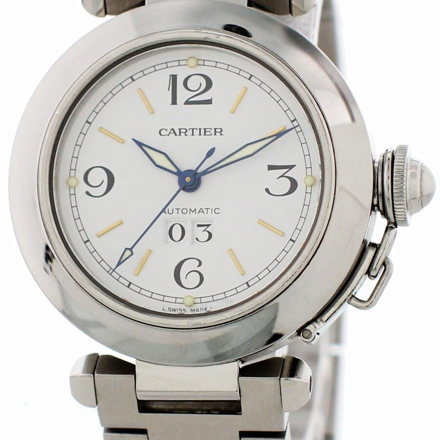 Pre-owned Cartier Pasha Automatic White Dial Men's Watch 2475