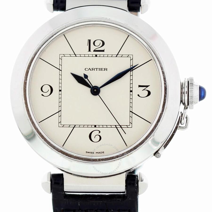 2a0b34e045c24 Pre-owned Cartier Pasha de Cartier Automatic White Dial Men's Watch 2730