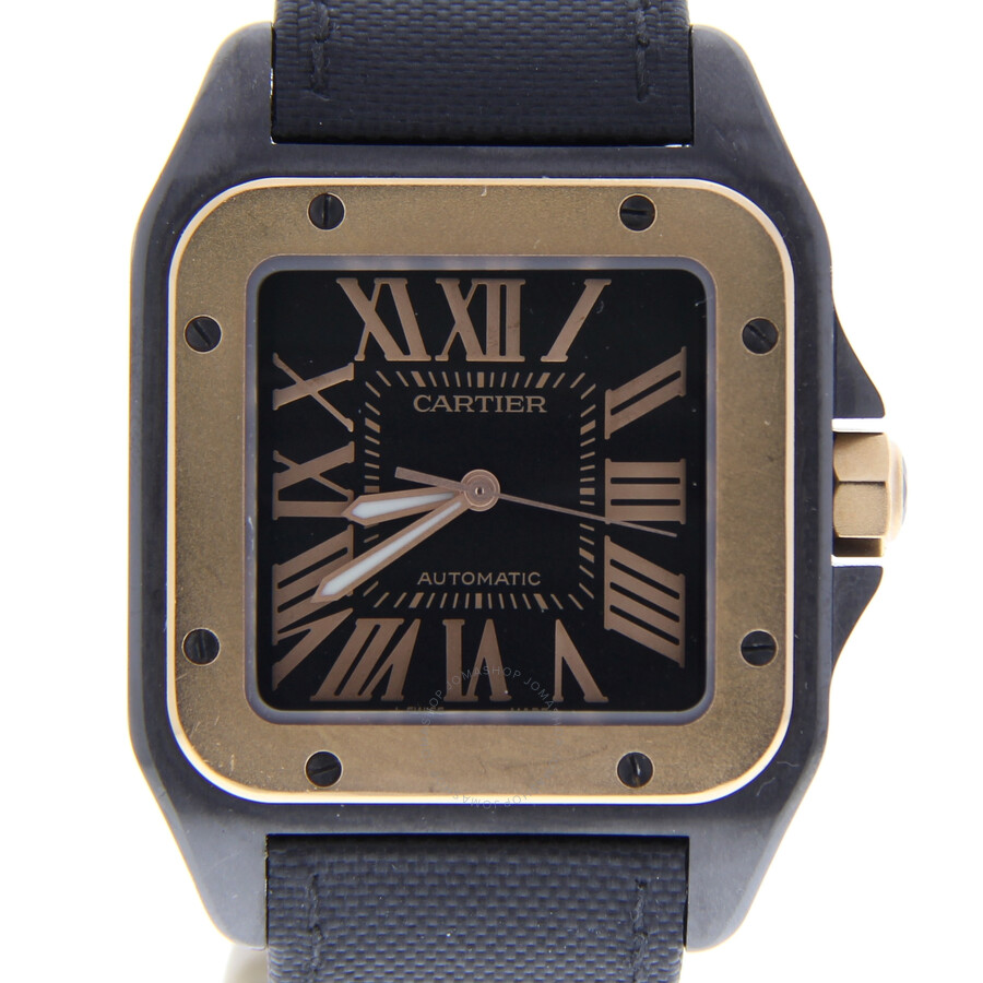 865aef1a2be6d Pre-owned Cartier Santos 100 Automatic Black Dial Men's Watch 2656