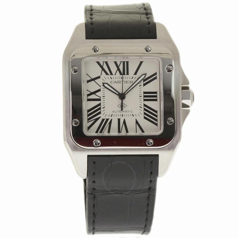 4d2f4789c50a7 Pre-owned Cartier Santos 100 Automatic White Dial Men s Watch WSSA0007