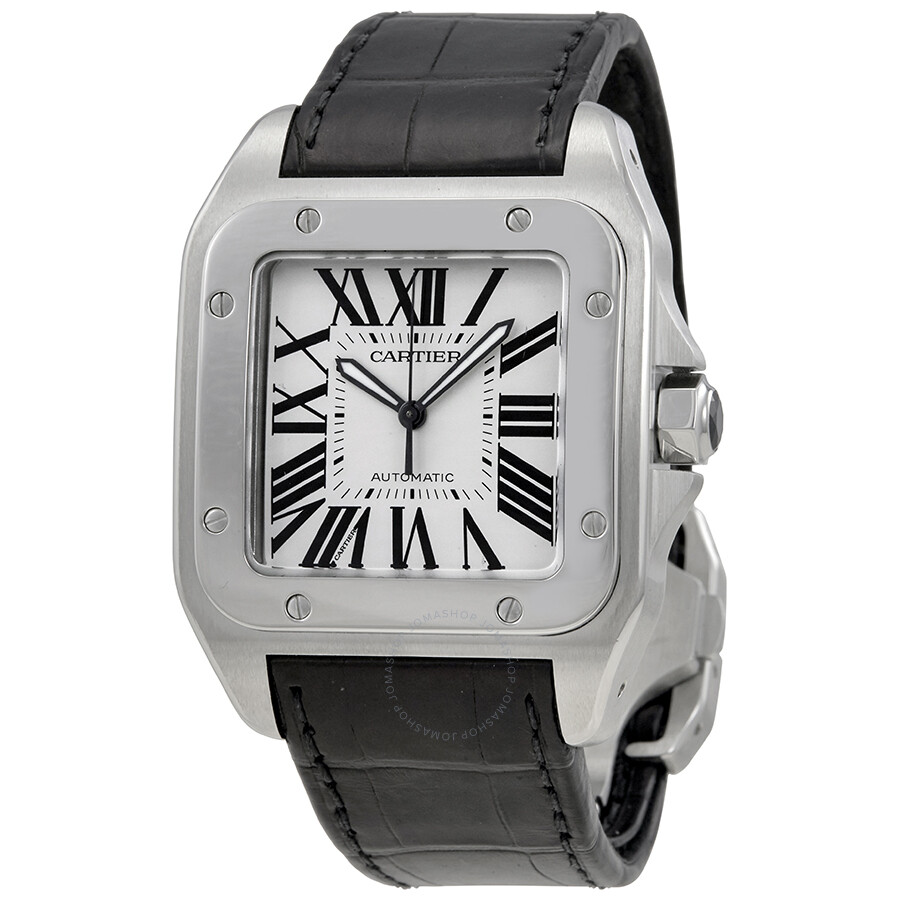 16ed1fdf0bb56 Pre-Owned Cartier Santos 100 Steel Automatic Large Men's Watch W20073x8