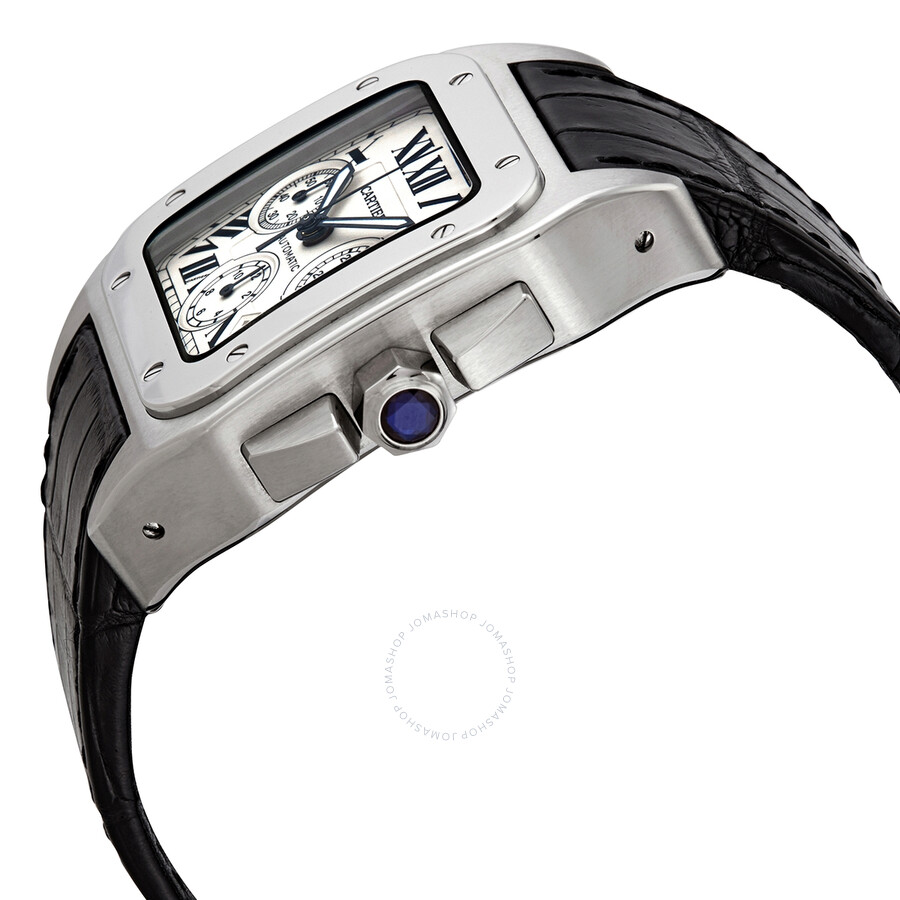 9fd7425c7d9 Pre-owned Cartier Santos 100 XL Chronograph Automatic Men s Watch W20090X8