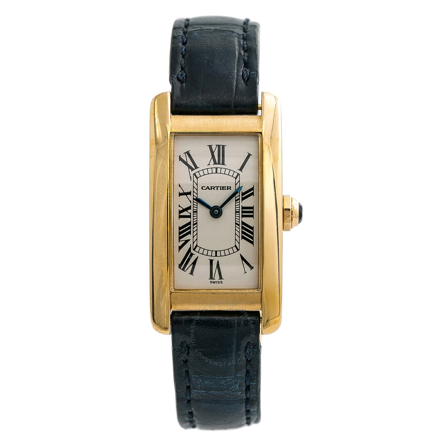 quality design 23c3f 7e956 Pre-owned Cartier Tank Americaine 18kt Yellow Gold Ladies Watch W2601556