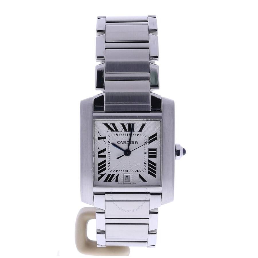 Pre-owned Cartier Tank Automatic Silver Dial Men's Watch 2302