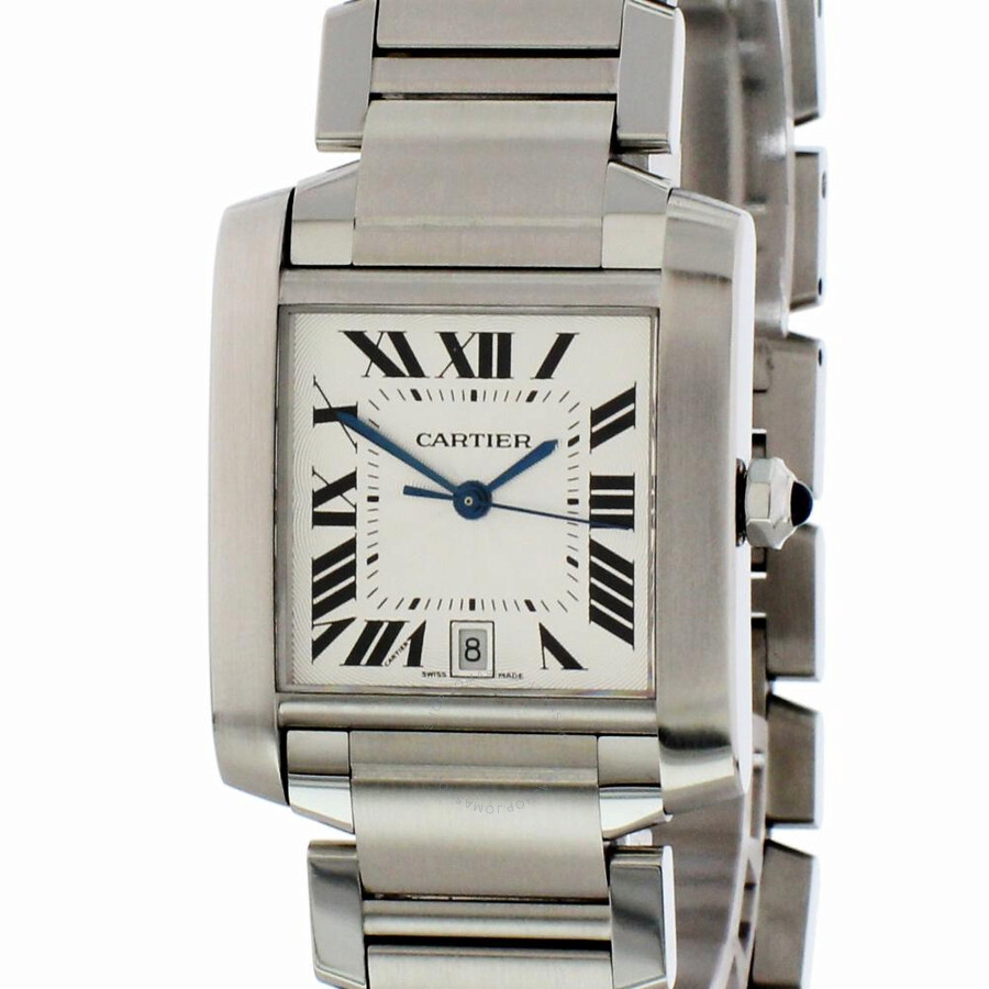 1bfc767a1795b Pre-owned Cartier Tank Francaise Automatic Silver Dial Ladies Watch 2302
