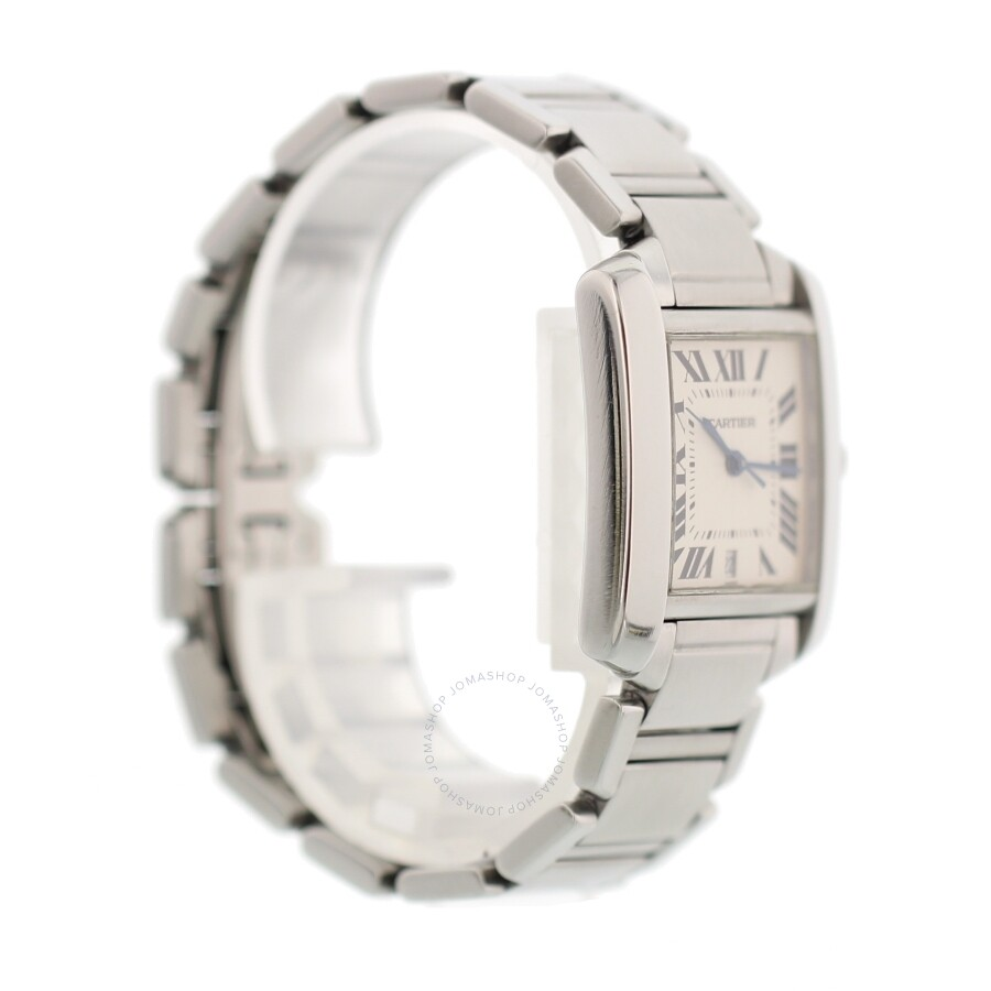 dc7658e84b0 ... Pre-owned Cartier Tank Francaise Automatic White Dial Watch 2302 ...