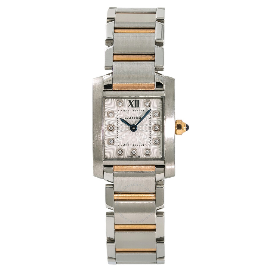 finest selection a3ba4 d1696 Pre-owned Cartier Tank Francaise Diamond Silver Dial Ladies Watch WE110004