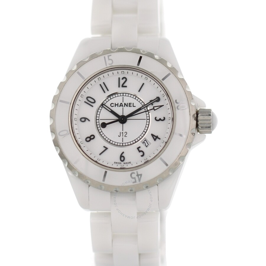 premium selection 87fa8 67c70 Pre-owned Chanel J12 Quartz White Dial Ladies Watch H0968