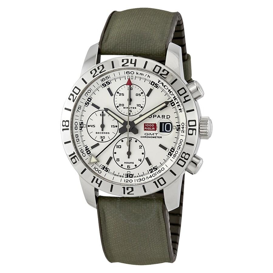ffa383eb542ca Pre-owned Chopard Mille Miglia GMT Chrono Chronograph Automatic White Dial  Men's Watch 15/ ...
