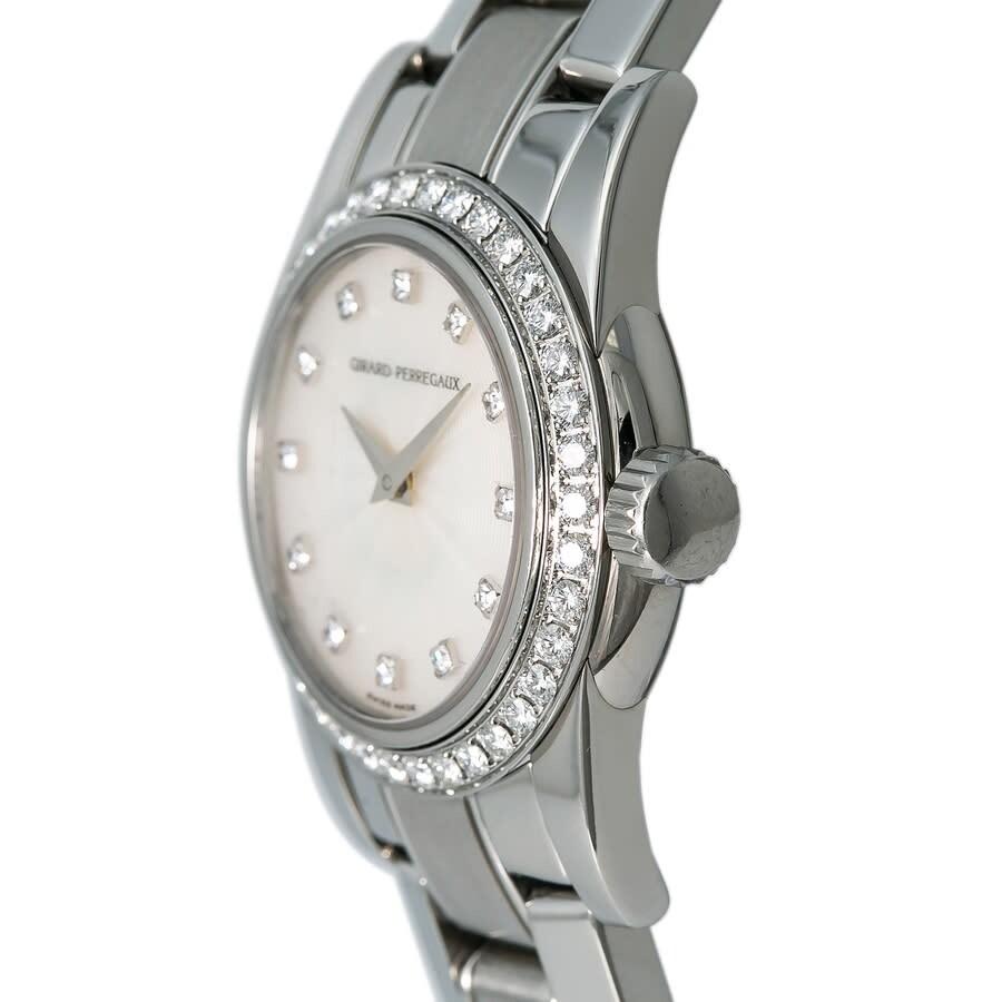 Pre-owned Girard Perregaux Lady F Automatic Diamond Silver