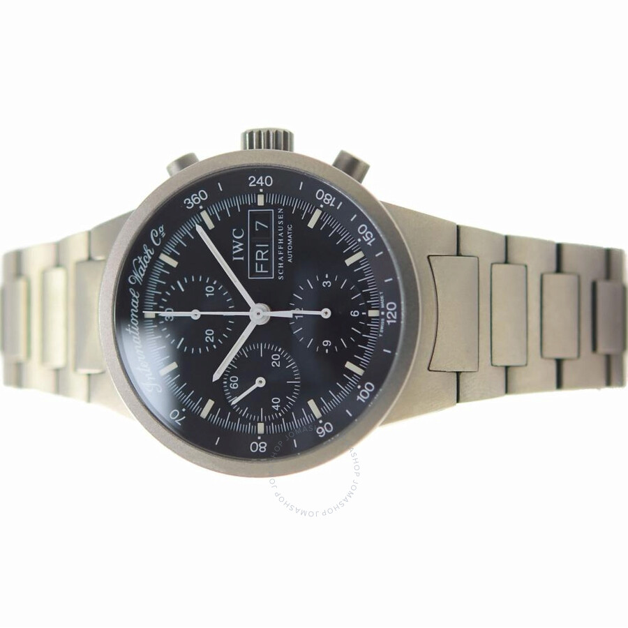 official photos f8fff b44dd Pre-owned IWC GST Split Second Chronograph Automatic Black Dial Men's Watch  IW370703