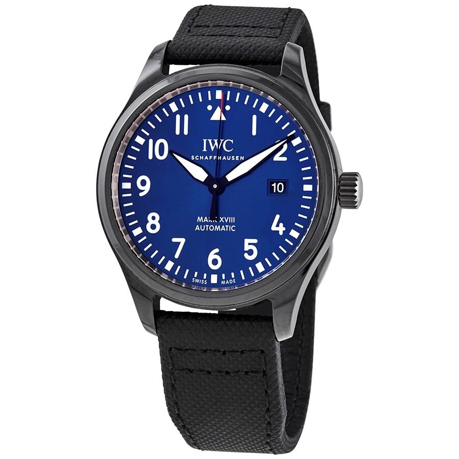 brand new 66b71 869c0 Pre-owned IWC Pilot Mark XVIII Laureus Automatic Blue Dial Men's Watch  IW324703