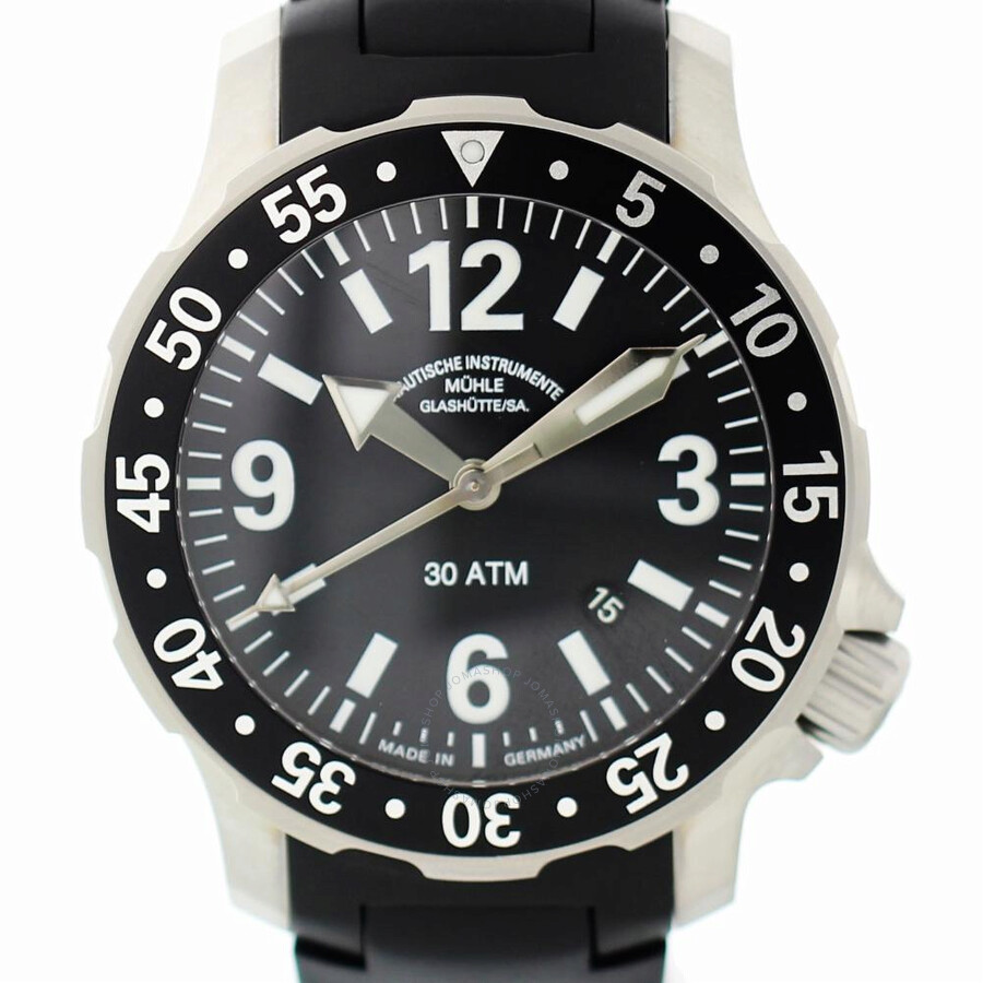 Pre owned Muhle Glashutte Marinus Automatic Black Dial Men's Watch M1 28 40 KB