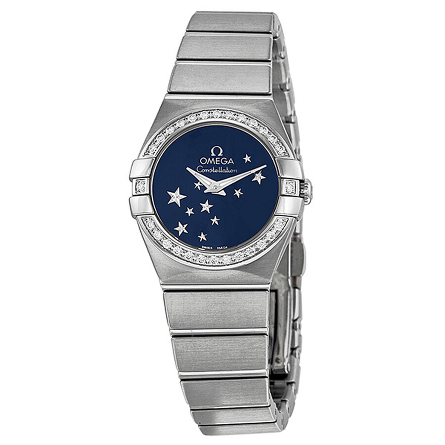 Pre-owned Omega Constellation Diamond Blue Star Dial Stainless Steel Ladies  Watch 12315246003001 ... f7043babc12b
