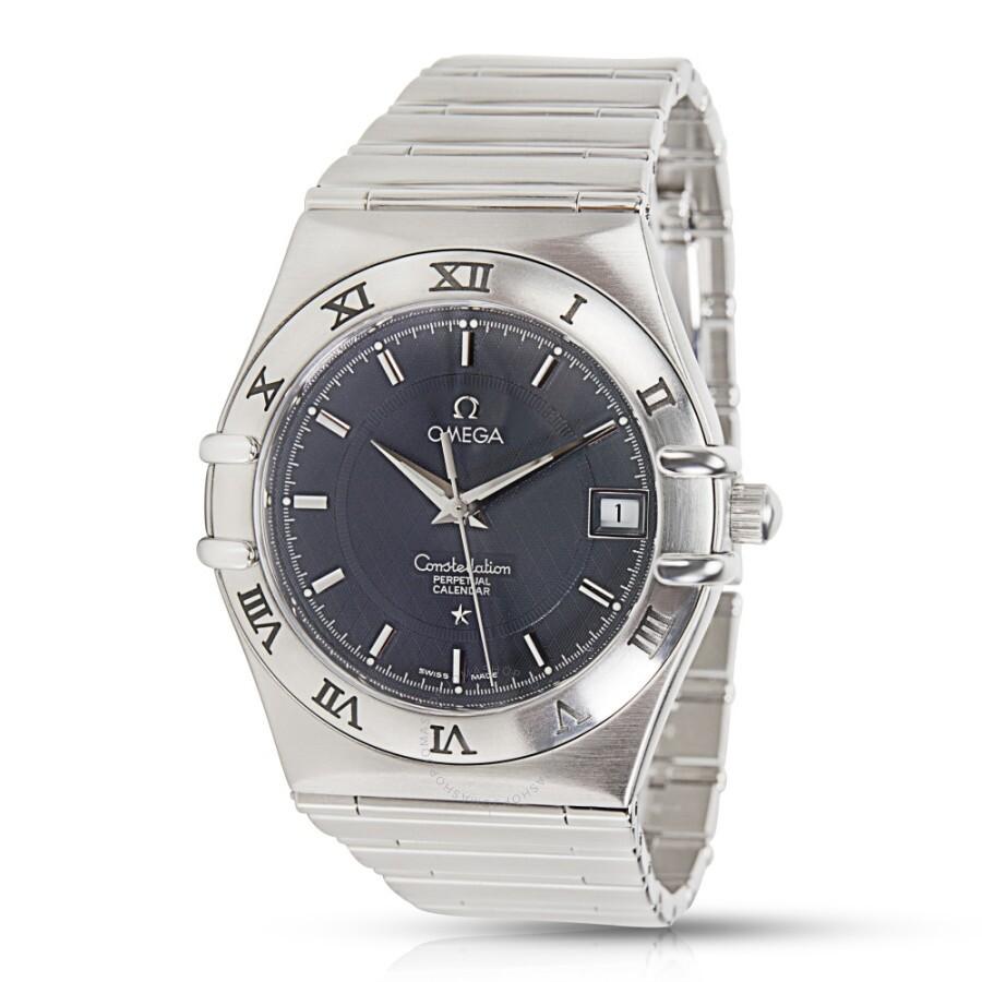 4d3eabea942c5 Pre-owned Omega Constellation Perpetual Quartz Grey Dial Men s Watch 1552.4  ...