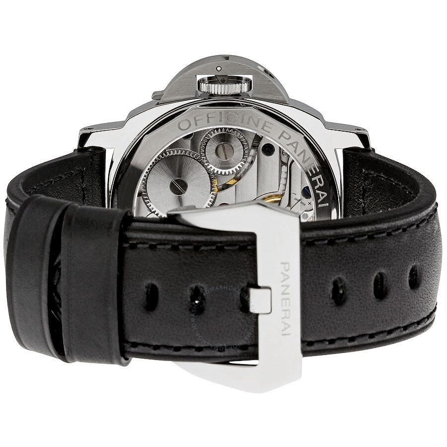 new concept 535a0 7562e Pre-owned Panerai Luminor Base Black Dial Mechanical Men's Watch PAM00219