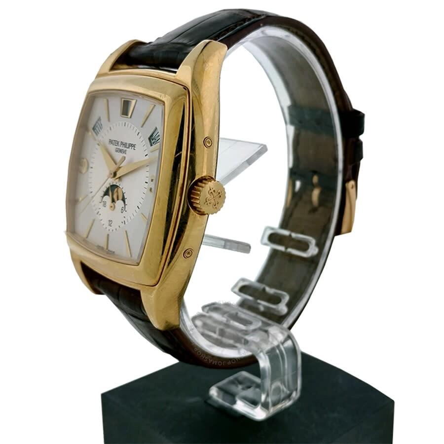 Calendario Ebel.Pre Owned Patek Philippe Gondolo Calendario Automatic Silver Dial Men S Watch 5135j 0001