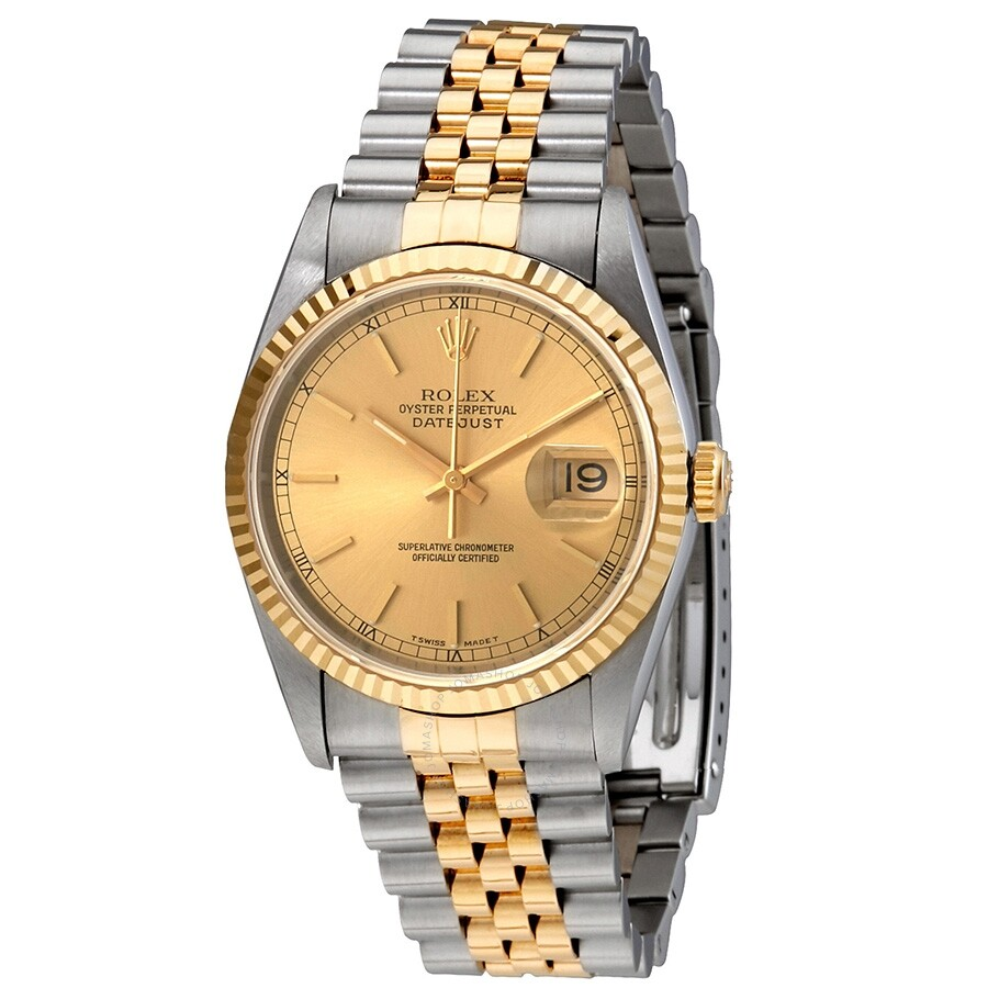 fb796fb8339cb Pre-owned Pre-owned Rolex Oyster Perpetual Datejust Two-tone 18kt Gold And  ...