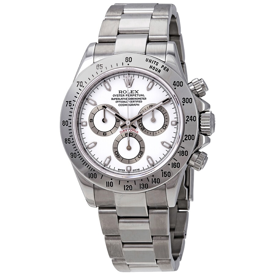5d9e7ec59cf Pre-owned Rolex Cosmograph Daytona White Dial Stainless Steel Oyster  Bracelet Automatic Men's Watch 116520WSO ...