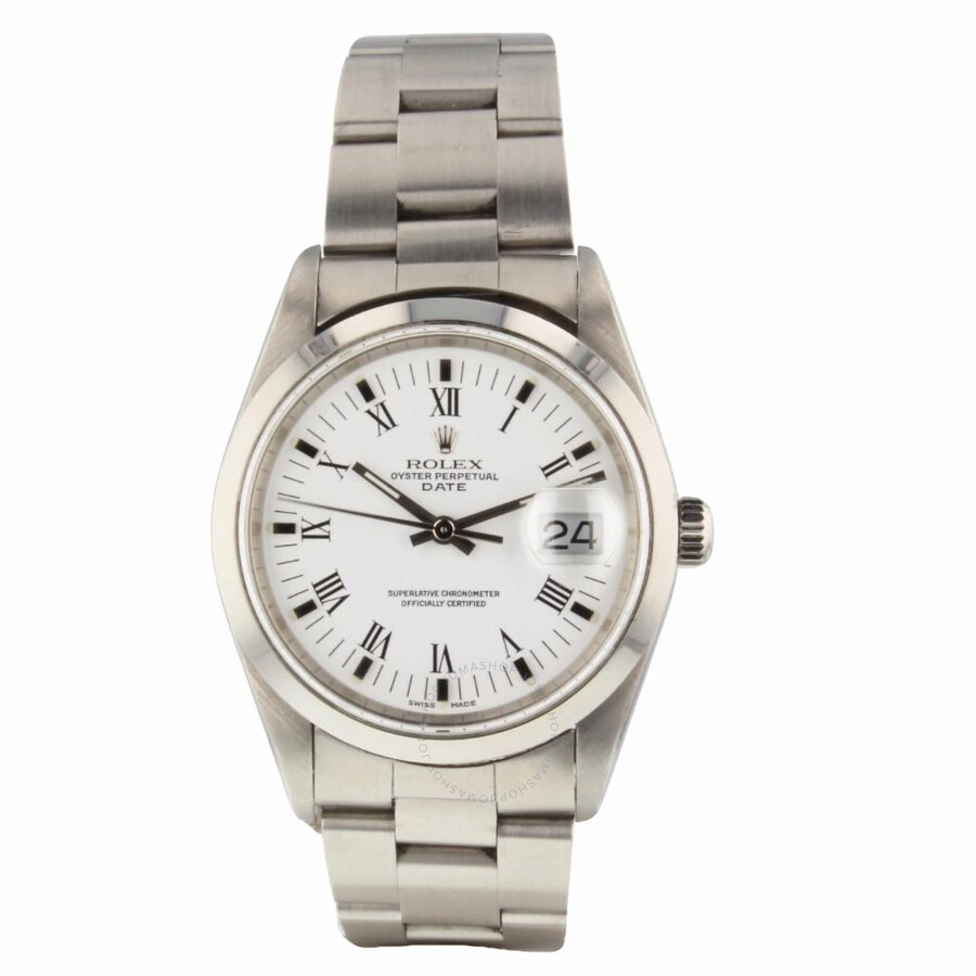 f460c697b4f3 Pre-owned Rolex Date Automatic Chronometer White Dial Men s Watch 15200 WRO